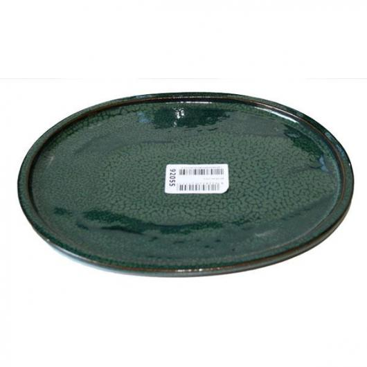 Plato cerámico Java Verde Ovalado