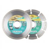 Wolfcraft 8392000 - 1 set de 3 discos diamantados de tronzar uno para azulejos / Universal y el otro segmentado / Turbo Ø 110 x 22,23 mm