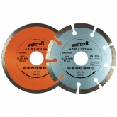 Wolfcraft 8390000 - 1 lot de disques diamant