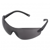 Wolfcraft 4885000 - 1 gafas protectoras con patillas oscuras, cristal antirayado, diseño deportivo (CE)