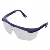 """Wolfcraft 4878000 - 1 gafas protectoras con patillas """"Safe"""" incoloras, DIN EN 166:2001, debido a las patillas ajustables, se adaptan óptimamente a todas las cabezas (CE)"""