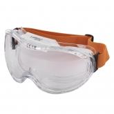 """Wolfcraft 4886000 - 1 gafas protectoras de visión total """"Comfort"""" con cinta de goma, para sus gafas, DIN EN 166:2001, falda obturadora ergonómica, cristal antirayado (CE)"""