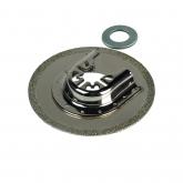 Wolfcraft 3955000 - 1 Hoja de serrar Recubierto de diamantes Ø 80 mm