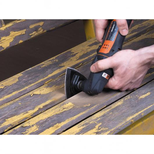 Wolfcraft 3996000 - 1 plato abrasivo adhesivo, triangular, 95 mm