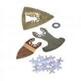 Wolfcraft 3960000 - 1 kit de proyecto de sierras vibratorias, reparación de azulejos