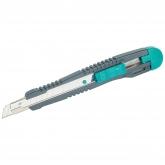 Wolfcraft 4141000 - 1 cúter de cuchillas separables Standard con guía de acero inoxidable y cuchilla de 9 mm, depósito con 3 hojas de recambio 9 mm