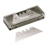 Wolfcraft 4187000 - 5 cuchillas trapezoidales 0,65 x 61 mm