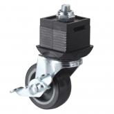 Wolfcraft 6066000 - 1 piedino con ruota e freno, orientabile
