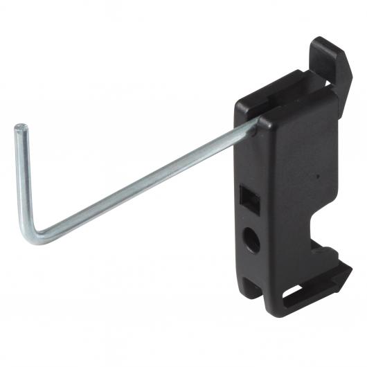 Wolfcraft 6099000 - 10 ganchos sencillos para panel perforado 60 mm
