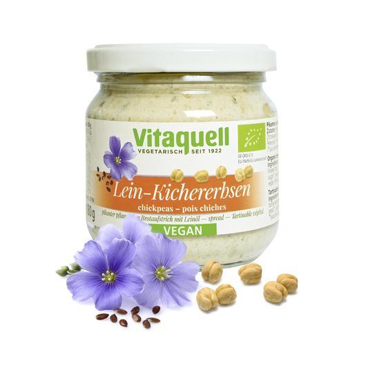 Paté de aceite de Lino con garbanzos bio Vitaquell 180g