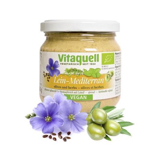 Paté olio di Lino Mediterraneo bio Vitaquell 180g
