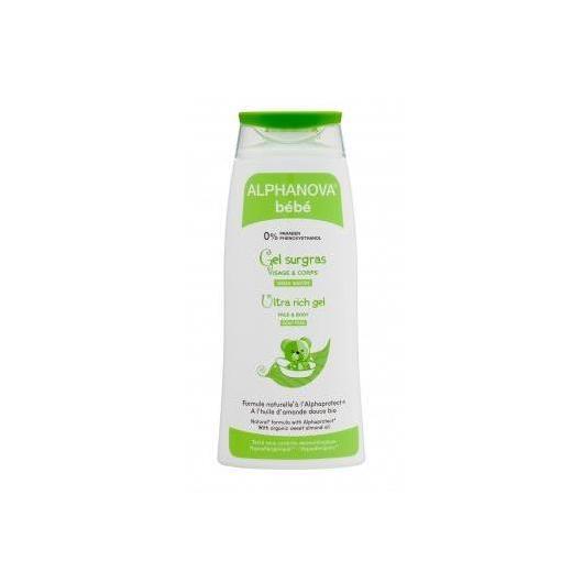 Gel da bagno Ultra Ricco - Dermatite atopica Alphanova 200 ml.