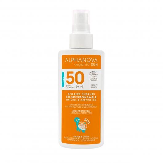Protettore Solare SPF 50 KIDS Alphanova 125 ml