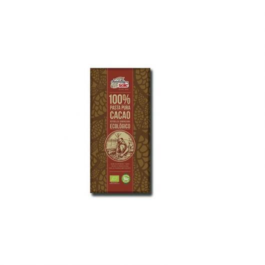Pâte 100% Pure Cacao en Tablette Chocolates Solé 100 g