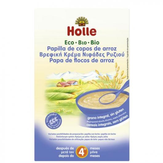 Pappa BIO crema di riso + 4 mesi Holle, 250g