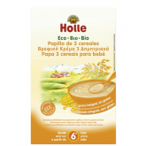 Papas BIO de 3 cereais +6 meses, Holle, 250 g