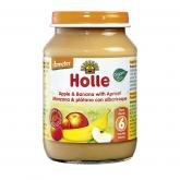 Omogenizzato BIO di mela, banana e albicocca + 6 mesi Holle, 190g