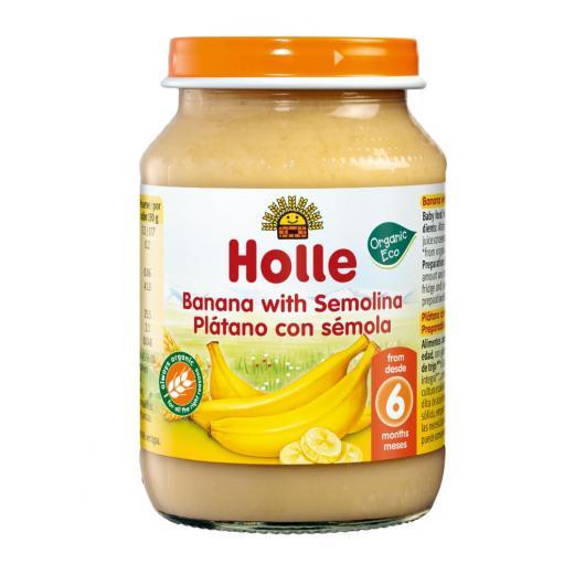Omogenizzato BIo di banana e semola di grano +6 mesi Holle, 190g
