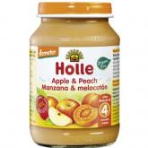Potito BIO de manzana y melacoton +4 meses Holle, 190 g