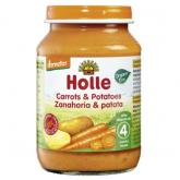 Potito BIO de zanahoria y patata +4 meses Holle, 190 g