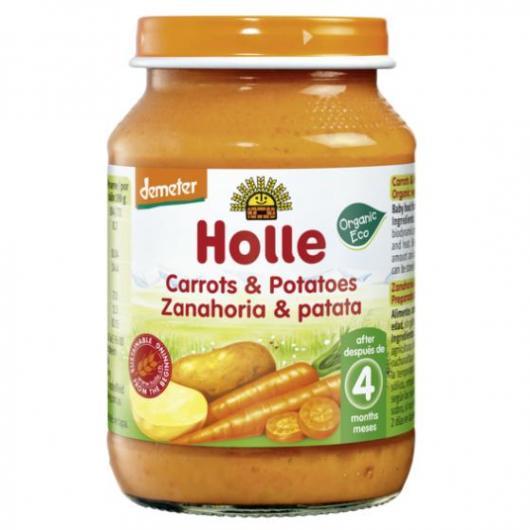 Omogenizzato BIO di carota e patata +4 mesi Holle, 190g