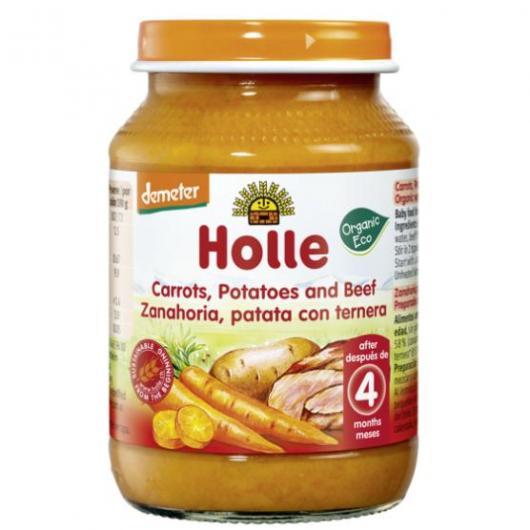 Potito BIO de zanahoria, patata y ternera +4 meses Holle, 190 g