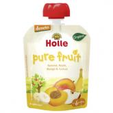 Smoothie BIO de plátano,manzana, mango y albaricoque Holle, 90g