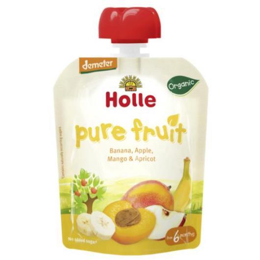 Smoothie Bio de Banane, Pomme, Mangue et Abricot Holle, 90g