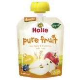 Frullato BIO di pera, mela, mirtillo e avena Holle, 90 g