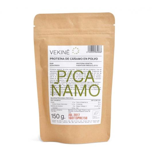 Proteina di canapa biologica in polvere Venikè, 150 gr