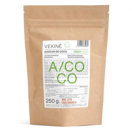 Zucchero di cocco biologico Vekinè, 250 gr