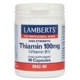 Tiamina 100 mg Lamberts, 90 capsules
