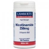 Nicotinamide 250 mg Lamberts, 100 comprimés