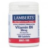 Vitamina B6 50 mg Lamberts, 100 tabletas