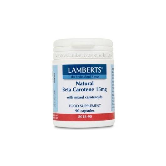 Beta Carotène Natural 15mg Lamberts, 90 comprimés