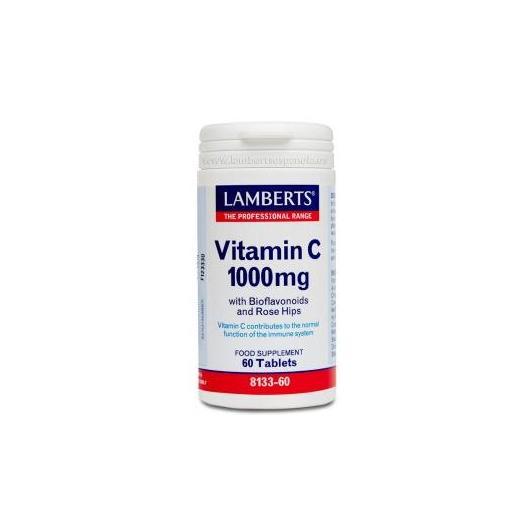 Vitamina C 1000 mg Lamberts, 60 tabletas
