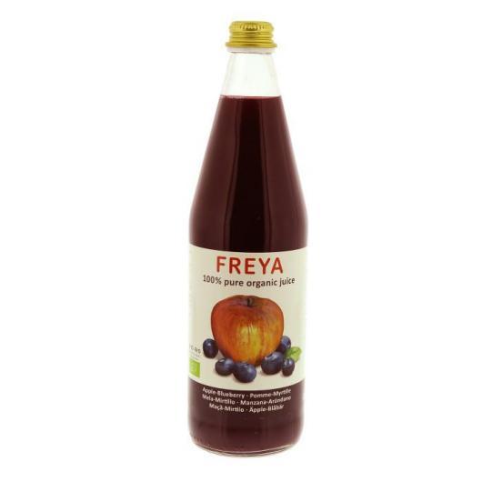 Zumo de Manzana y Arándanos silvestres FREYA, 750 ml