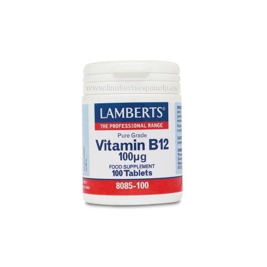 Vitamina B12 Lamberts,  100 tabletas