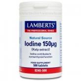 Yodo 150 µg Lamberts, 500 tabletas