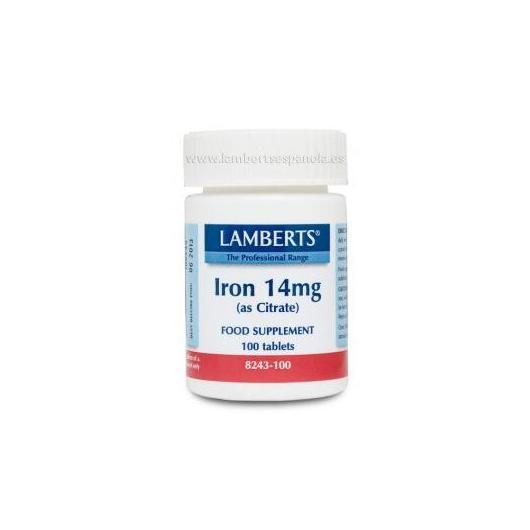 Ferro 14 mg Lamberts, 100 compresse