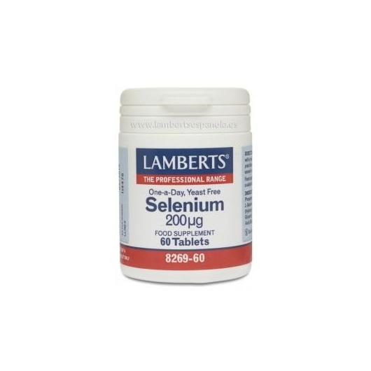 Selenio 200 µg Lamberts, 60 tabletas
