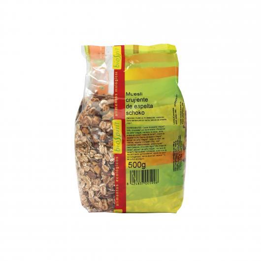 Muesli d'Épeautre Croustillant Choco BioSpirit, 500 g