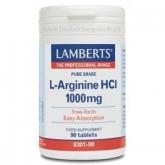 L-Arginina HCI 1000 mg Lamberts, 90 tabletes