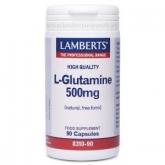 L-Glutamina 500 mg Lamberts, 90 capsule