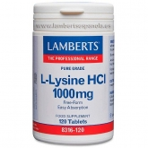 L-Lysine 500 mg Lamberts, 120 tablettes