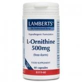 L-Ornitina 500 mg Lamberts, 60 capsule