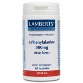L-Fenilalanina 500 mg Lamberts, 60 capsule