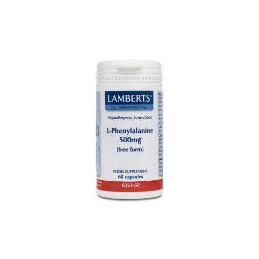 L-Fenilalanina 500 mg Lamberts, 60 capsules