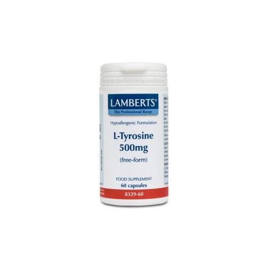 L-Tirosina 500 mg Lamberts, 60 capsule