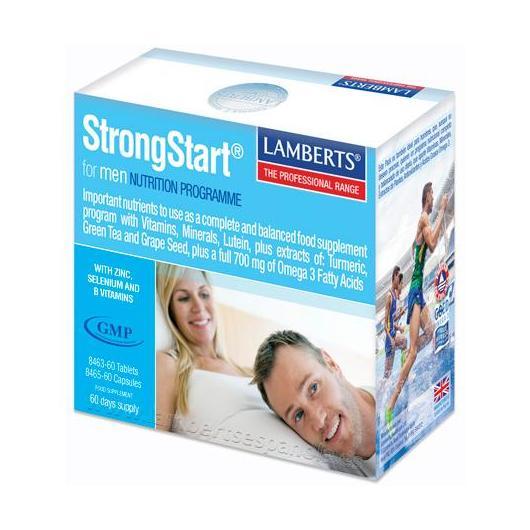 StrongStart® for Men Lamberts, 30 tabletas + 30 capsules